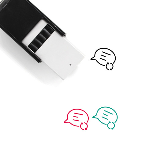 Message Sync Self-Inking Rubber Stamp No. 4