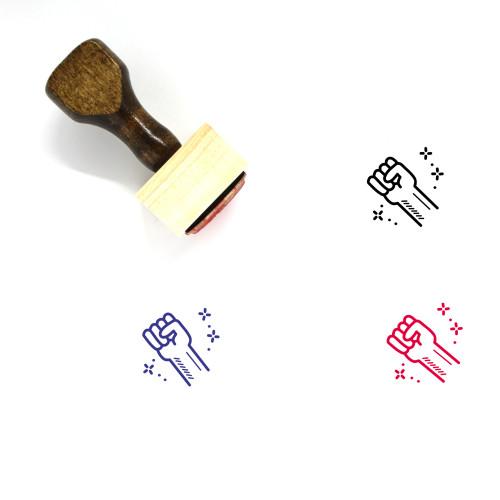 Rights Wooden Rubber Stamp No. 3