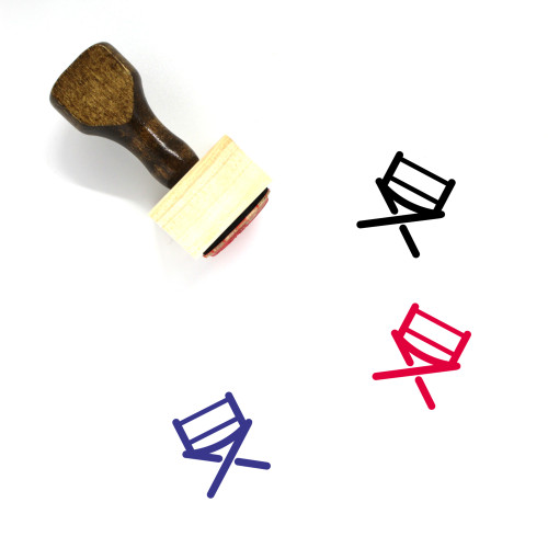 Directors Chair Wooden Rubber Stamp No. 18