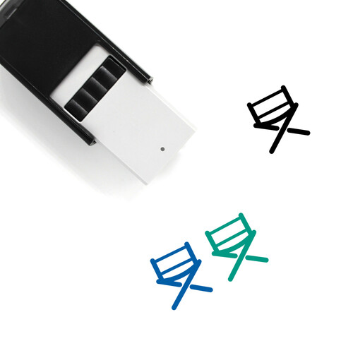 Directors Chair Self-Inking Rubber Stamp No. 18