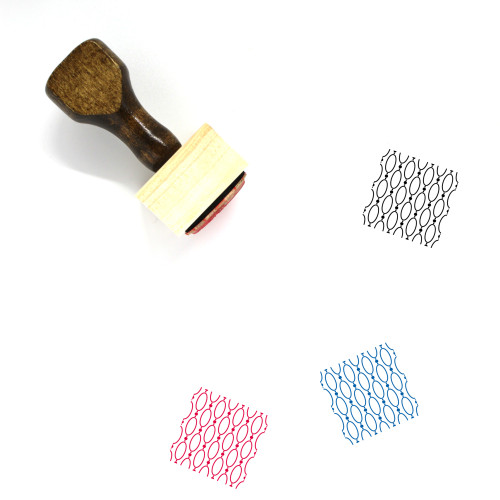 Design Pattern Wooden Rubber Stamp No. 48