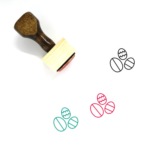 Easter Eggs Wooden Rubber Stamp No. 145