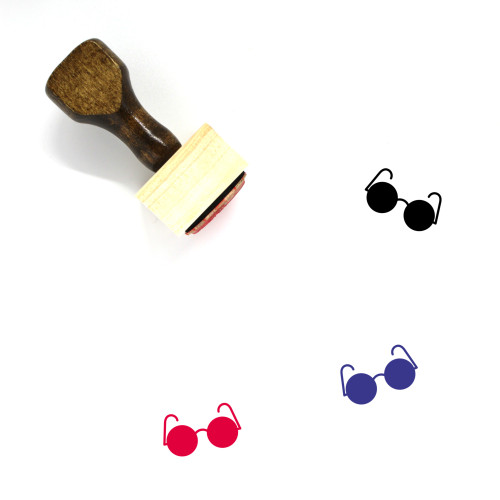 Glasses Wooden Rubber Stamp No. 292