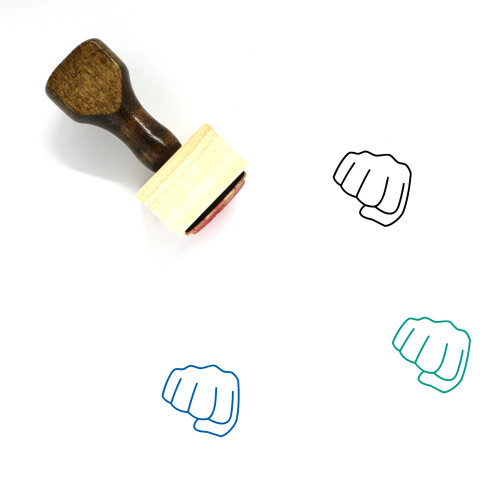 Punch Wooden Rubber Stamp No. 45
