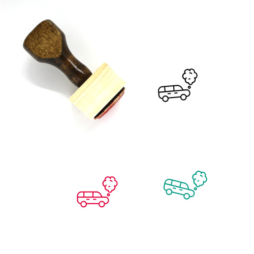Engine Overheating Wooden Rubber Stamp No. 4
