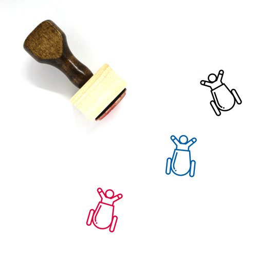 Cannon Wooden Rubber Stamp No. 85