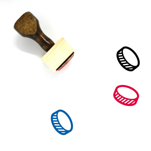 Hockey Puck Wooden Rubber Stamp No. 8