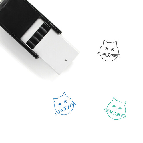 Cat Self-Inking Rubber Stamp No. 182