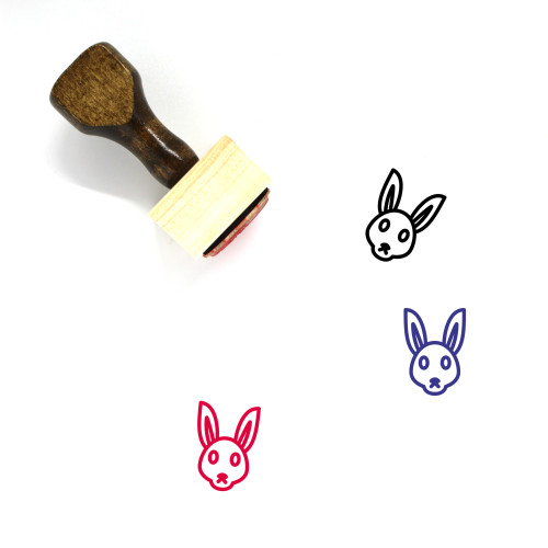Rabbit Wooden Rubber Stamp No. 282