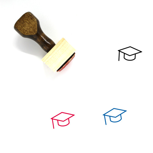 Mortar Board Wooden Rubber Stamp No. 50