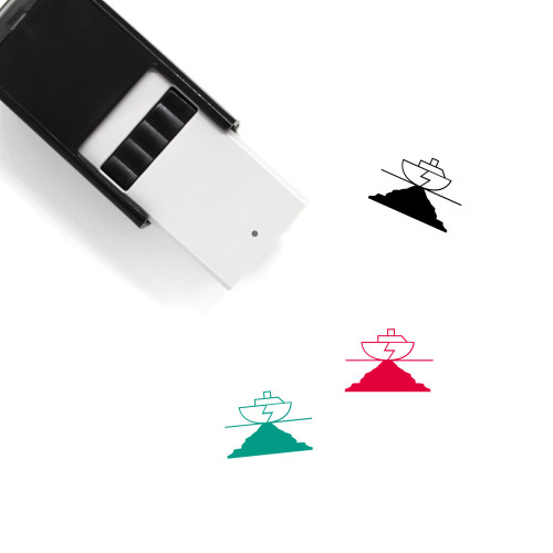 Oil Leak Self-Inking Rubber Stamp No. 1