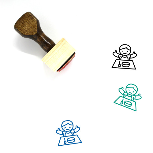 BABY FEEDING Wooden Rubber Stamp No. 4