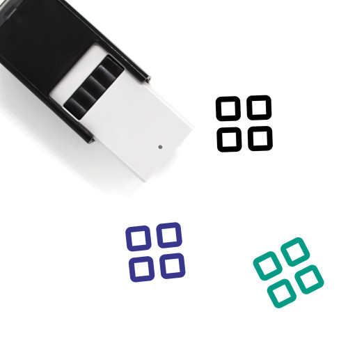 Grid Self-Inking Rubber Stamp No. 78