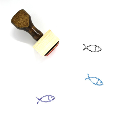 Fish Wooden Rubber Stamp No. 300