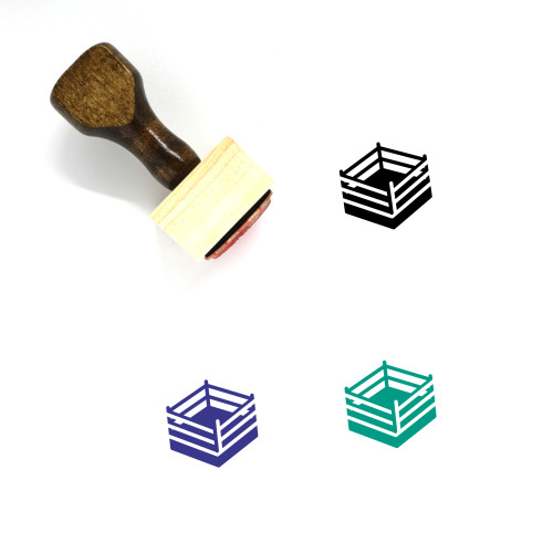 Boxing Ring Wooden Rubber Stamp No. 7