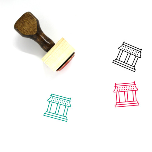 Temple Wooden Rubber Stamp No. 43