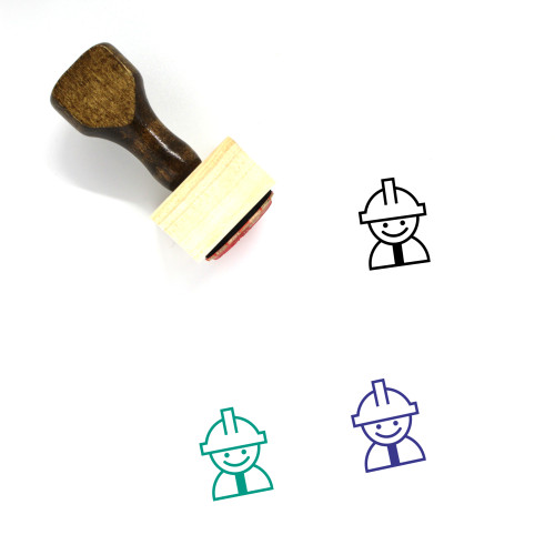 Labor Wooden Rubber Stamp No. 34