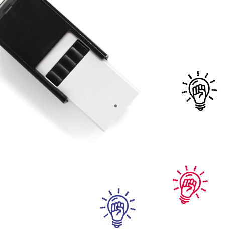 Light Bulb Self-Inking Rubber Stamp No. 379