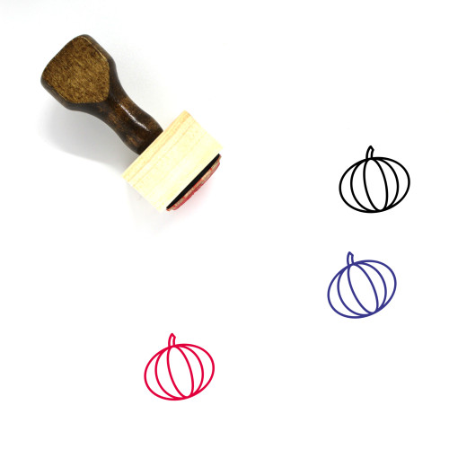 Melon Wooden Rubber Stamp No. 91