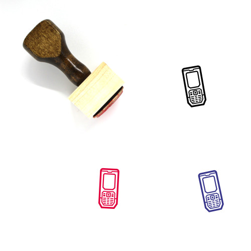 Mobile Phone Wooden Rubber Stamp No. 51