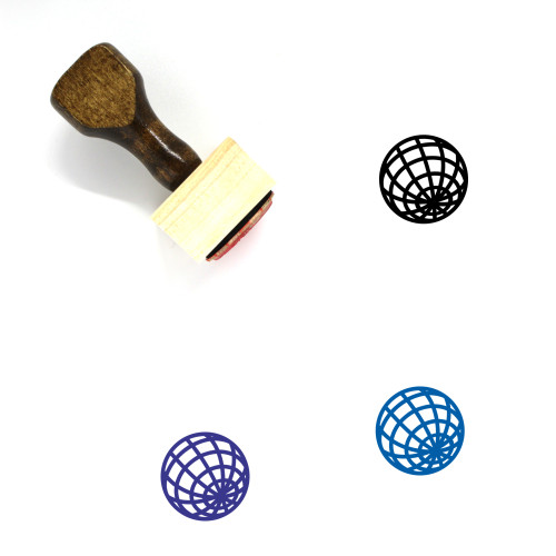 Globe Wooden Rubber Stamp No. 1345