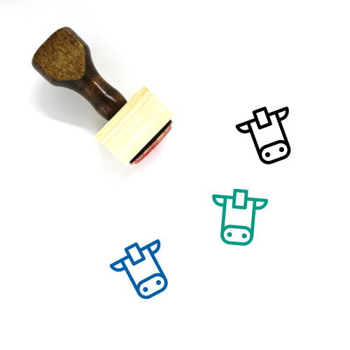 Cattle Wooden Rubber Stamp No. 28
