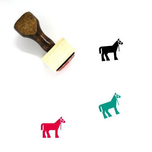 Draft Horse Wooden Rubber Stamp No. 1