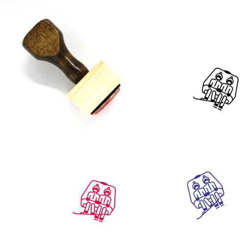 Chairlift Wooden Rubber Stamp No. 20