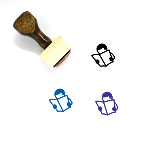 Reading Wooden Rubber Stamp No. 130