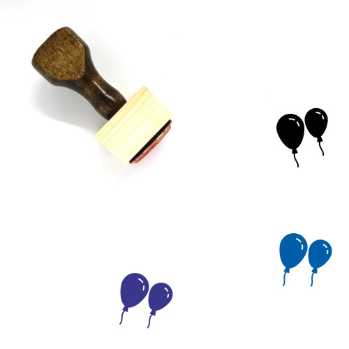 Balloons Wooden Rubber Stamp No. 85