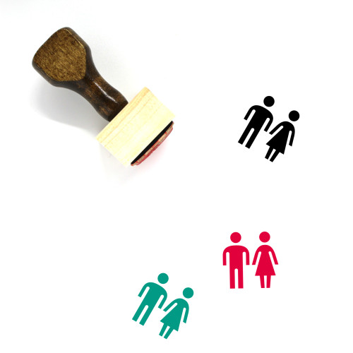 Toilet Wooden Rubber Stamp No. 185