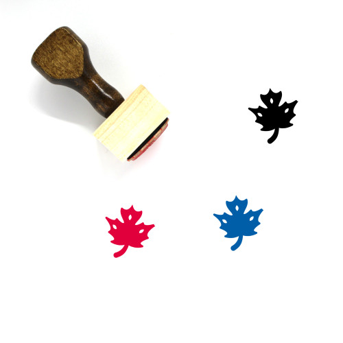 Maple Wooden Rubber Stamp No. 39