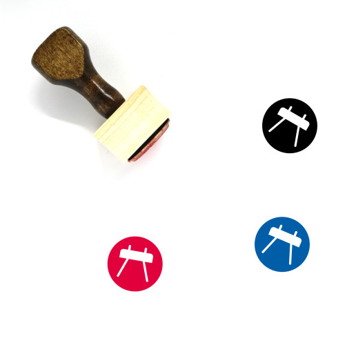 Gym Wooden Rubber Stamp No. 42