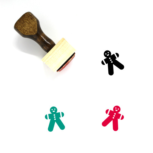 Gingerbread Man Wooden Rubber Stamp No. 113