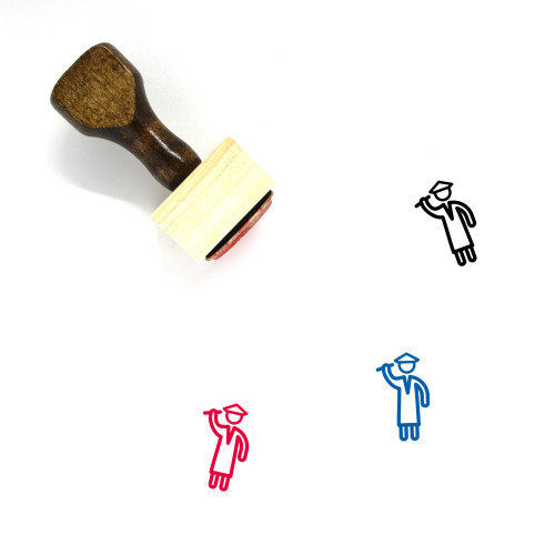 Graduate Student Wooden Rubber Stamp No. 28