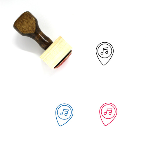 Music Wooden Rubber Stamp No. 170