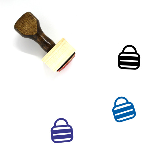 Bags Wooden Rubber Stamp No. 113