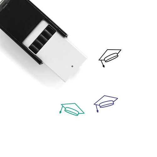 Mortarboard Self-Inking Rubber Stamp No. 46