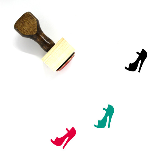 High Heel Wooden Rubber Stamp No. 78