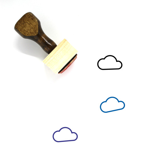 Cloud Wooden Rubber Stamp No. 381