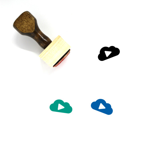Play Cloud Wooden Rubber Stamp No. 6