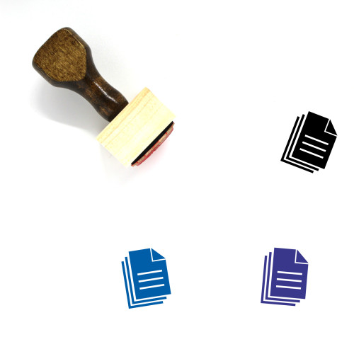 Documents Wooden Rubber Stamp No. 130