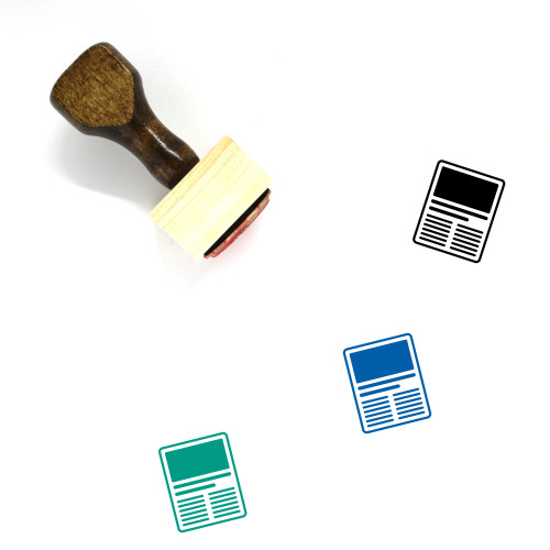 Content Wooden Rubber Stamp No. 42