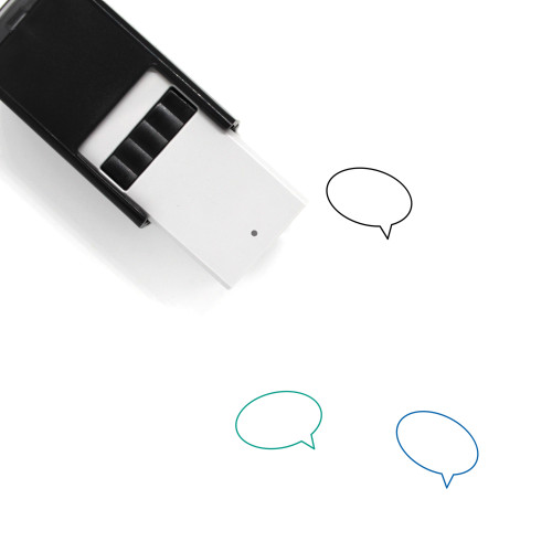 Message Bubble Self-Inking Rubber Stamp No. 32