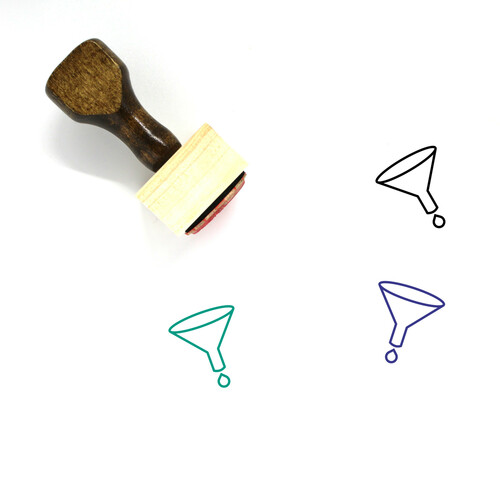 Funnel Wooden Rubber Stamp No. 46
