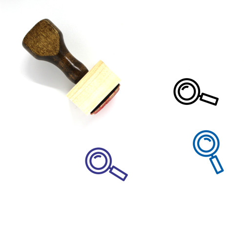 Magnifying Glass Wooden Rubber Stamp No. 287
