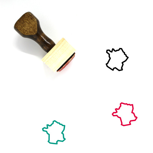 France Wooden Rubber Stamp No. 52