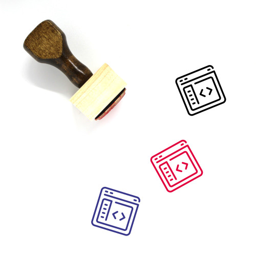 Web Design And Development Wooden Rubber Stamp No. 59