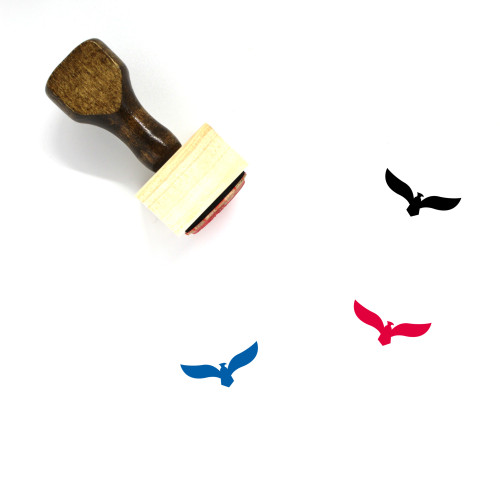 Eagle Logo Wooden Rubber Stamp No. 3
