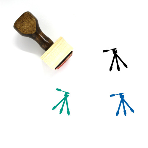 Tripod Wooden Rubber Stamp No. 8